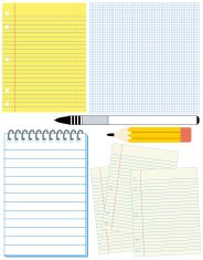 Blank note papers. ( Vector )
