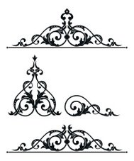 Ornate Scroll Design Set
