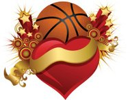 Basketball Starburst Heart