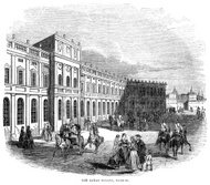 The Royal Palace, Madrid - Victorian engraving
