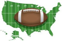 United States Football Map