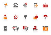 Logistics icons | alto series