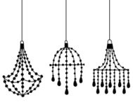 Silhouette chandeliers