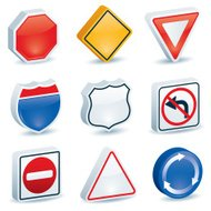 Dimensional Road Signs