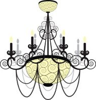 Crystal chandelier silhouette premium clipart clipartlogo chandelier chandelier silhouette aloadofball Images