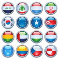 World flag media buttons three Update
