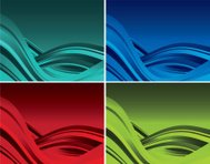Two credit Color abstract wave background