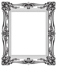 Close-up of an empty picture frame