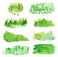 Watercolored Backgrounds In Green