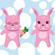 Couple of Pink Rabbits