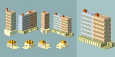 set of Isometric Buildings