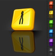 clippers 3D button design