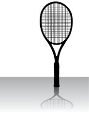 Tennis Racket - Sports Equipment Silhouette