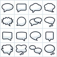 Speech or Chat Bubbles