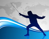 Fencing with World Map Background