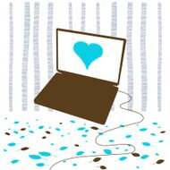Blue love laptop forest freedom