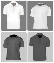 T-shirts and polo shirts.