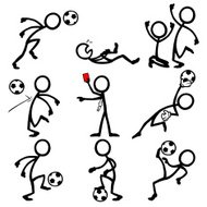 Stick Figure People Soccer