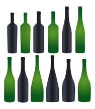 collection of silhouette bottles