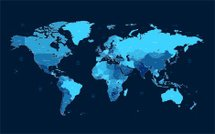 Dark blue detailed World map