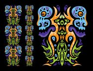 Psychedelic ornament element