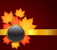 Fall Background with maple leaves