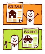 businessman selling houses & renting cars