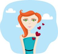 Young woman in love