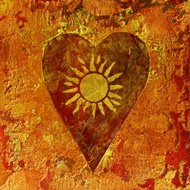heart and sun painting