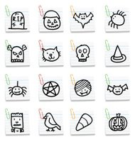 Halloween post it note icons
