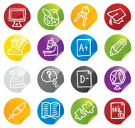 Education icon stickers