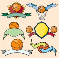 Sport Emblems III: Basketball I (Vector)