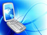 cell phone global communication background