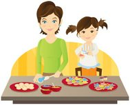 Baking Cookies with Mom 2