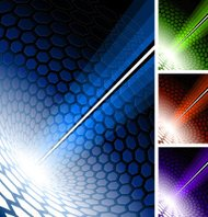 modern hexagon Background with abstract light