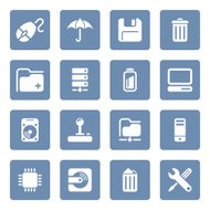 Computer & Data icons | blue series