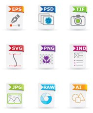 File type icon set: Design and Photography
