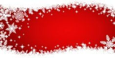 Red Snowflake Christmas Swish Background