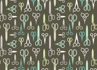 Background with scissors