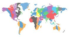 World map dot icon premium clipart clipartlogo editable vector world map made up of small dots gumiabroncs Image collections
