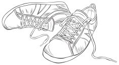 Vector illustration of shoes