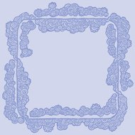 Decorative square border frame