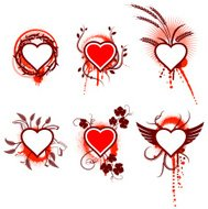 Hearts Collection with Abstract Designs
