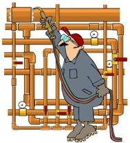 Plumber Sweating Copper Pipe