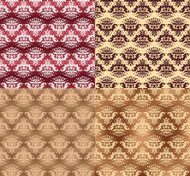 Damask ornamental pattern