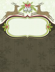 background with christmas elements and one label