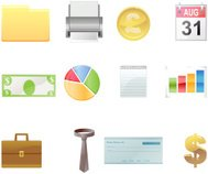 Business and Money Vector Icons