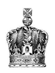 19th century engraving of the Queen's crown
