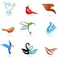 collection of birds icons