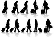 Travelers with suitcases